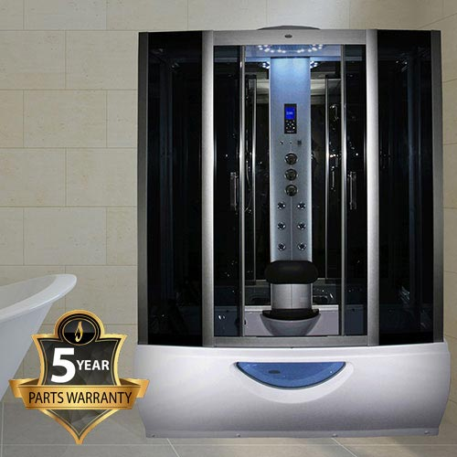 Insignia Steam Shower Cabin with Mirrored Backwalls - INS1057 Large Image