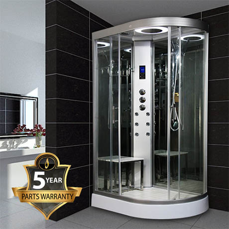 Insignia INS9002 Hydro Massage Shower Cabin with Mirrored Backwalls 800 x 1200mm
