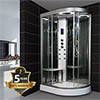 Insignia INS9002 Hydro Massage Shower Cabin with Mirrored Backwalls 800 x 1200mm profile small image view 1