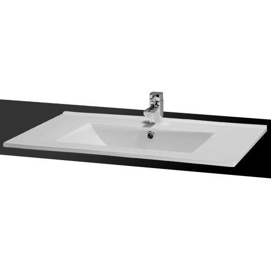 Ultra Minimalist Ceramic Inset Basin profile large image view 1