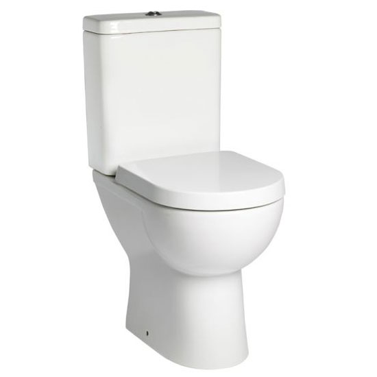 Tavistock Ion Comfort Height Close Coupled WC & Soft Close Seat profile large image view 1