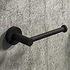 Arezzo Industrial Style Matt Black Toilet Roll Holder profile small image view 1