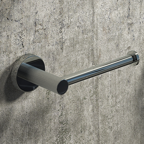 Arezzo Industrial Style Chrome Toilet Roll Holder