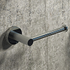 Arezzo Industrial Style Chrome Toilet Roll Holder profile small image view 1