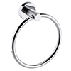Arezzo Industrial Style Chrome Round Towel Ring profile small image view 1