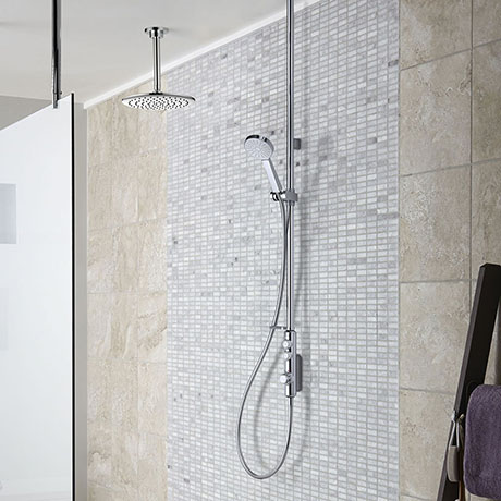 Aqualisa iSystem Smart Shower Exposed with Adjustable and Ceiling Fixed Heads
