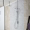 Aqualisa iSystem Smart Shower Exposed with Adjustable and Ceiling Fixed Heads profile small image view 1