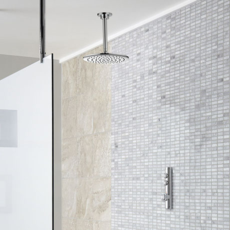 Aqualisa iSystem Smart Shower Concealed with Ceiling Fixed Head