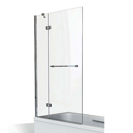 KUDOS Inspire 8mm Two Panel In-Swing Bathscreen with Towel Rail