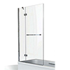 KUDOS Inspire 8mm Two Panel In-Swing Bathscreen with Towel Rail profile small image view 1
