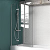 KUDOS Inspire 8mm Two Panel In-Swing Bathscreen profile small image view 1