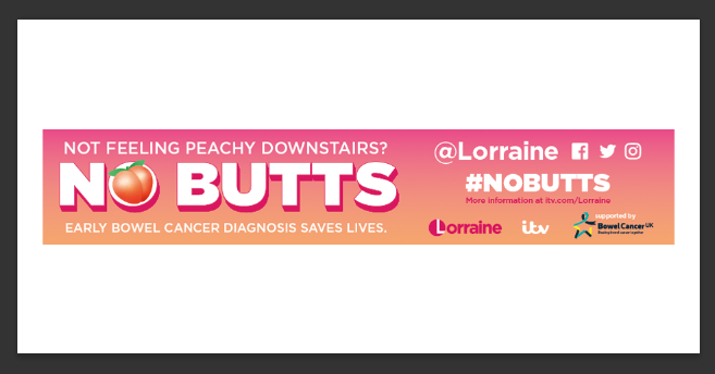 ITV Lorraine's 'No Butts' Campaign Banner