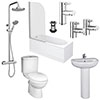 Ivo Complete Modern Bathroom Package profile small image view 1