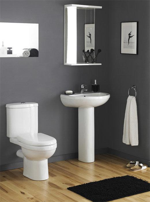 Premier - Ivo Ceramic 4 Piece Bathroom Suite - 1 or 2 Tap Holes Large Image
