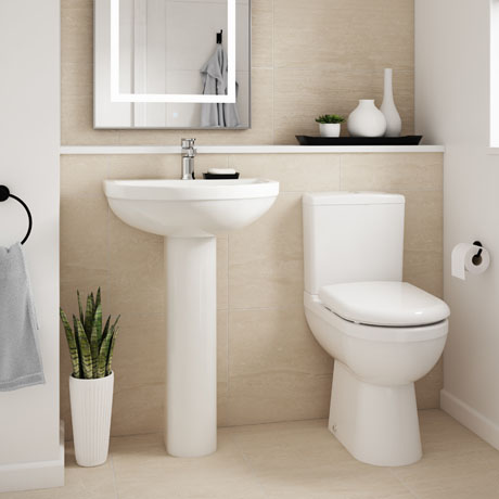 Premier Ivo 4-Piece Comfort Height Modern Bathroom Suite