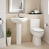 Premier Ivo 4-Piece Comfort Height Modern Bathroom Suite profile small image view 1