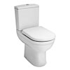 Premier Ivo Comfort Height Close Coupled Toilet with Soft Close Seat profile small image view 1