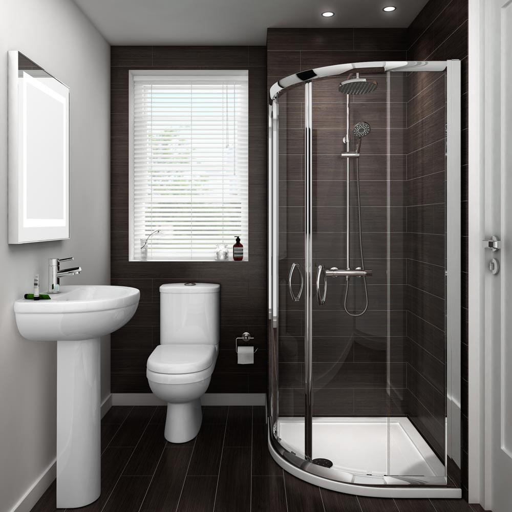 Ivo Suite And Shower Quadrant En Suite Set 2 Size Options