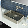 JTP Vos Rectangular Inox Stainless Steel Counter Top Basin + Waste profile small image view 1