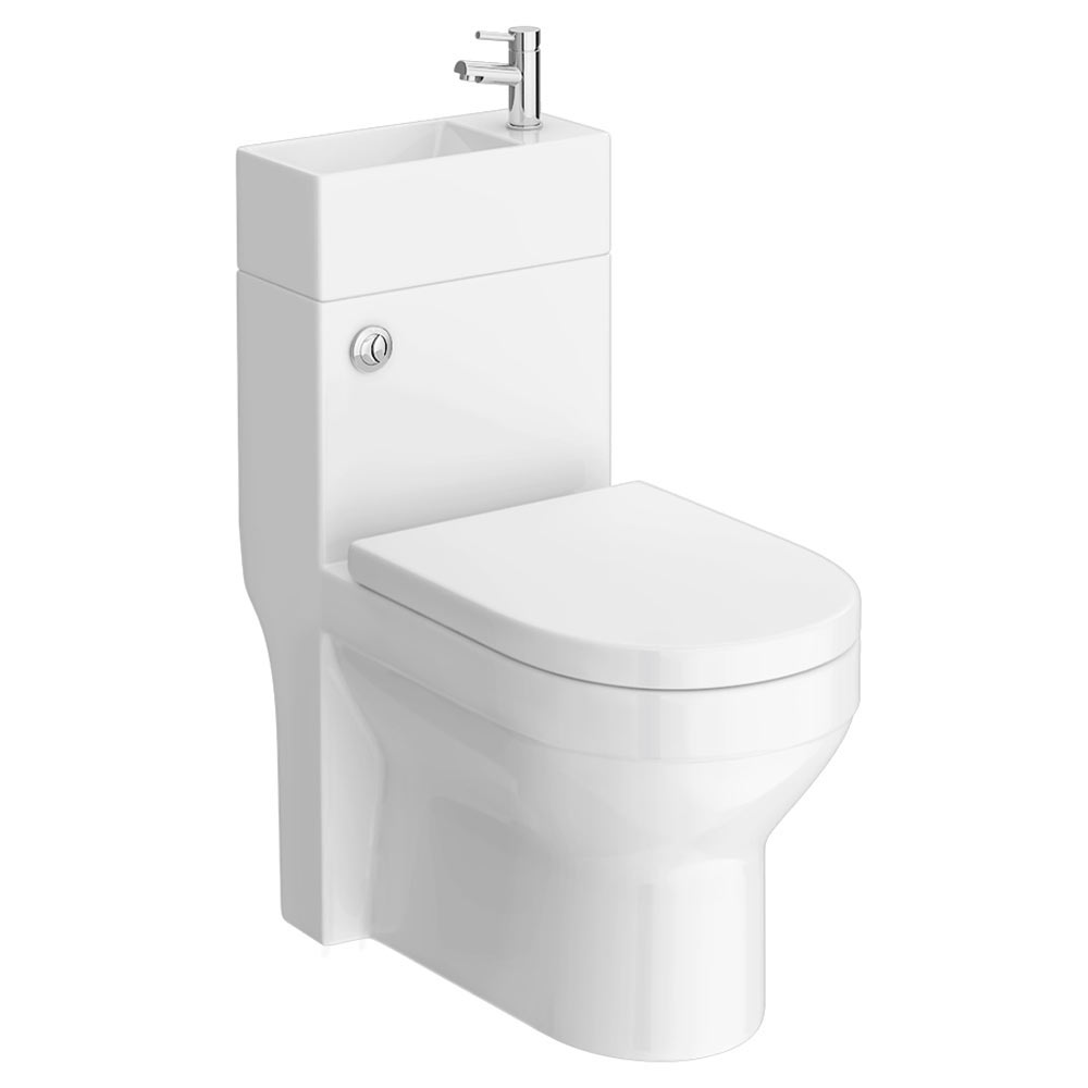 Iconic Combined Two-In-One Wash Basin + Toilet profile large image view 2