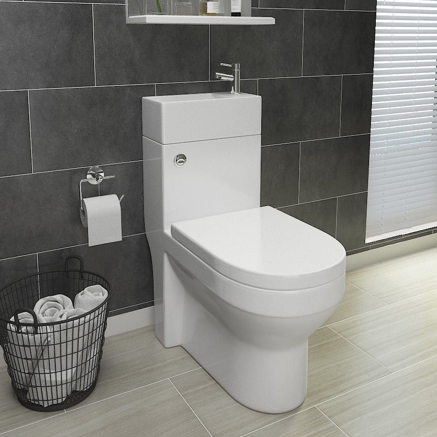 Iconic Combined Two-In-One Wash Basin + Toilet profile large image view 1