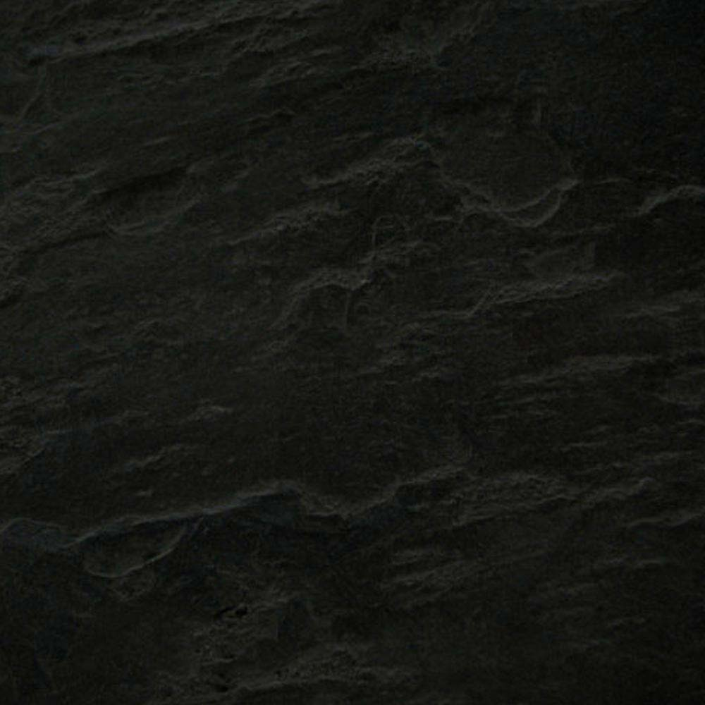Imperia Black Slate Effect Square Shower Tray 900 x 900mm Inc. Chrome Waste profile large image view 2