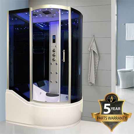 Insignia - 1700mm Steam Shower Cabin with Mirrored Backwalls - INS8059