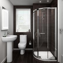 Ivo En Suite Bathroom Suite Set - 2 Sizes Available Medium Image
