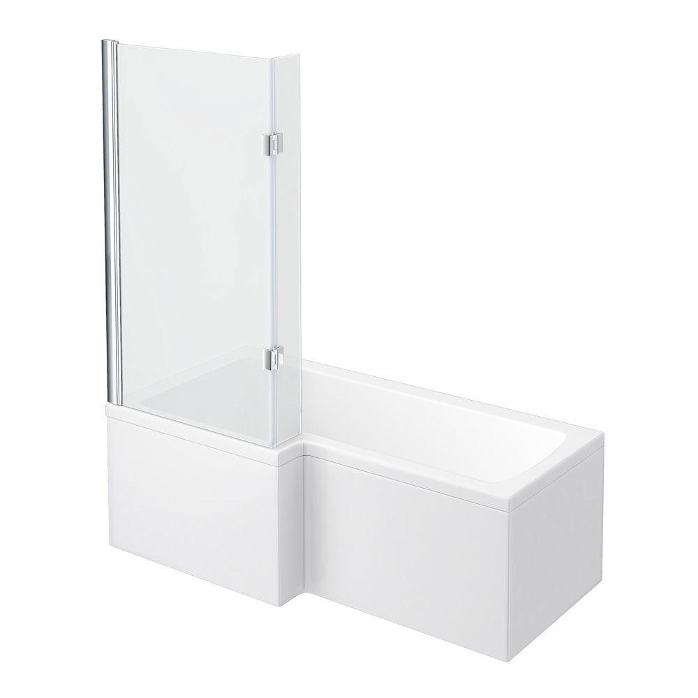 Ivo Modern Shower Bath Suite In Bathroom Large Image