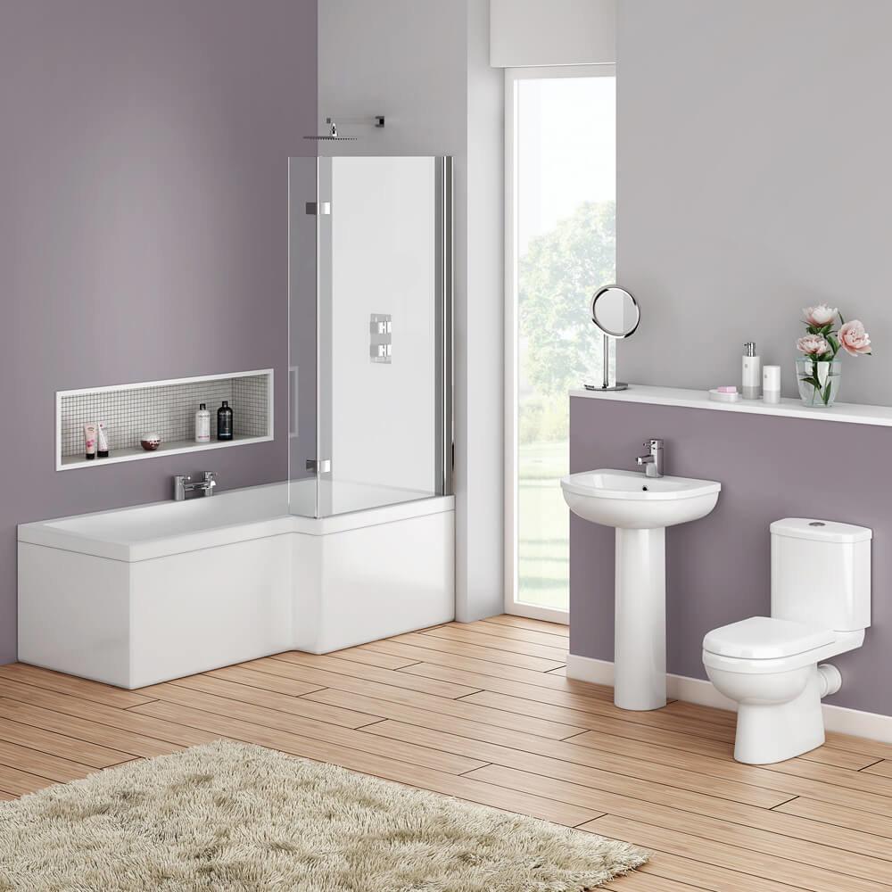 Ivo Modern Shower Bath Suite - IMSBSRH