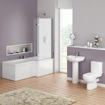 Ivo Modern Shower Bath Suite Medium Image