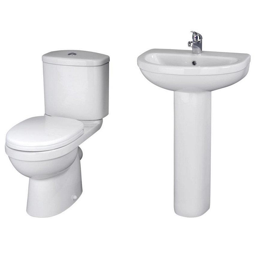 Ivo En Suite Bathroom Suite Set - 2 Sizes Available Profile Large Image