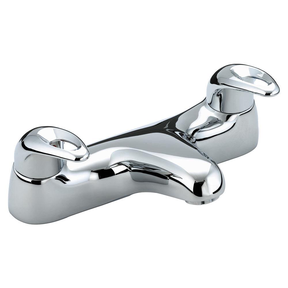 Bristan Java Contemporary 2 Handle Bath Filler - Chrome - J-BF-C