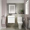 Juno Gloss White Cloakroom Suite profile small image view 1