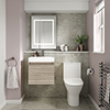 Juno Driftwood Cloakroom Suite profile small image view 1