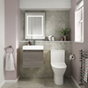 Juno Grey Avola Cloakroom Suite profile small image view 1