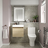 Juno Natural Oak Cloakroom Suite profile small image view 1