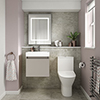 Juno Stone Grey Cloakroom Suite profile small image view 1