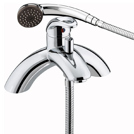 Bristan Java Contemporary Single Lever Bath Shower Mixer - Chrome - J-SLPBSM-C