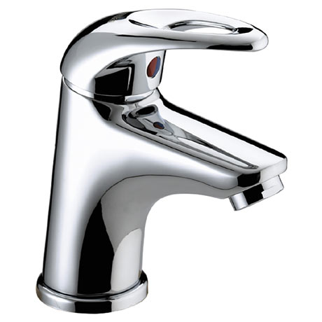 Bristan Java Contemporary Small Basin Mixer with Clicker Waste - Chrome - J-SMBAS-C