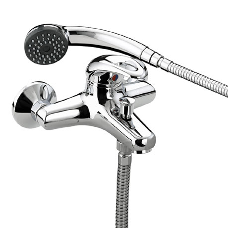 Bristan Java Contemporary Wall Mounted Bath Shower Mixer - Chrome - J-WMBSM-C