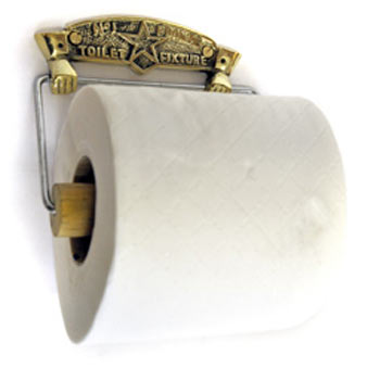 Brass Famous No1 Toilet Roll Fixture - J301 profile large image view 2