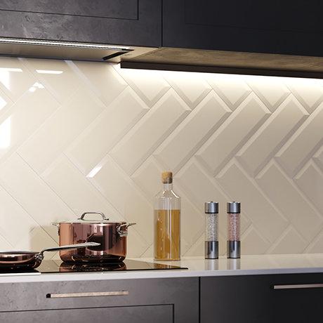 Jasper Metro Beige Bevelled Wall Tiles - 100 x 300mm