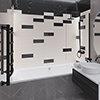 Jasper Metro Black Bevelled Wall Tiles - 100 x 300mm Small Image