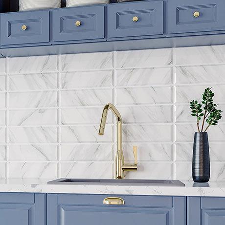 Jasper Metro Carrara Bevelled Wall Tiles - 100 x 300mm