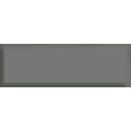 Jasper Metro Dark Grey Bevelled Wall Tiles - 100 x 300mm