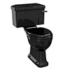 Burlington Jet Black Close Coupled WC with 520mm Lever Cistern profile small image view 1