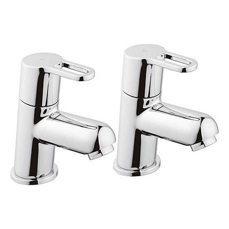 Bristan Jive Bath Pillar Taps Chrome - JI-3/4-C