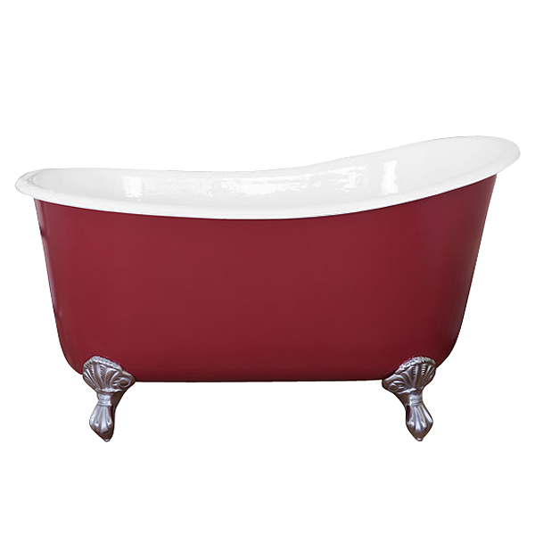 JIG Lyon Cast Iron Roll Top Slipper Bath (1370x730mm) with Feet Large Image