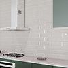 Jasper Metro Light Grey Bevelled Wall Tiles - 100 x 300mm Small Image
